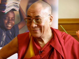 The Dalai Lamaat the Children in Crossfire Conference Derry Northern Ireland.